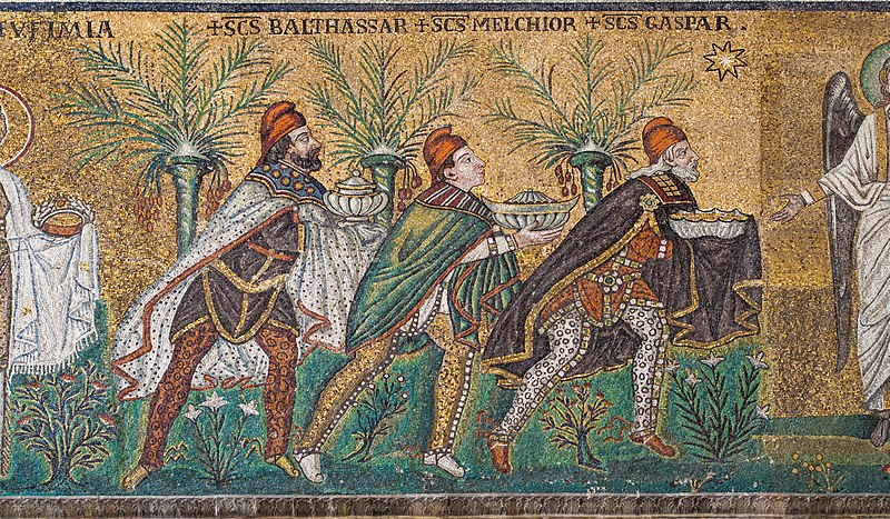File:Ravenna Basilica of Sant'Apollinare Nuovo 3 Wise men.jpg