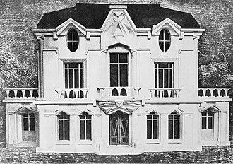 Raymond Duchamp-Villon - Raymond Duchamp-Villon, 1912, Study for La Maison Cubiste, Projet d'Hotel (Cubist House). Image published in Les Peintres Cubistes, by Guillaume Apollinaire, 17 March 1913