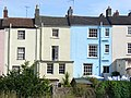 Rear facades of houses on Bridge Street, Chepstow, Wales.jpg