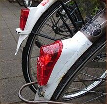 fietsspatbord met ingebouwd achterlicht