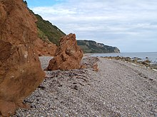 Red rock, Branscombe Ebb - geograph.org.uk - 240964.jpg