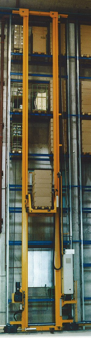 Automated storage and retrieval system - ASRS with input on ground level