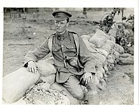 Regimenal Sgt. Major Cox of the Leicesters (Photo 24-351)