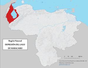Maracaibo Basin - Image: Region Natural Depresion Lago Maracaibo