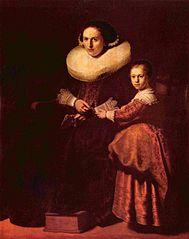 Portraits de Susanna van Collen et sa fille Anna