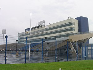 Connecticut Huskies football - Press box at Rentschler Field in 2008