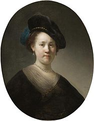 Bust of a Young Woman in a Feathered Beret