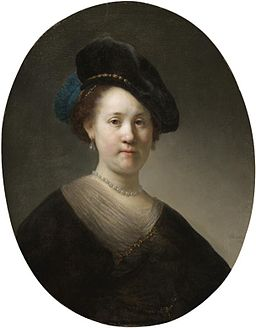 Retrato de uma senhorita com capa negra