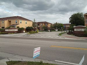 Shooting of Trayvon Martin - The Retreat at Twin Lakes, north entrance