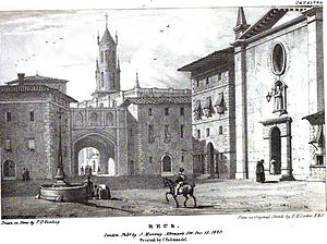 Reus - Reus by Edward Hawke Locker in 1823, published in the work Views in Spain.