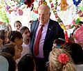 Reuven Rivlin decorating his Sukkah with pupils. October 2017 (7959).jpg