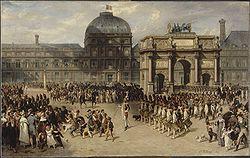 Revue militaire devant l'Arc de Triomphe du Carrousel, 1810