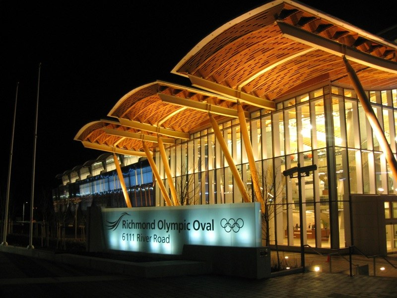 Richmond Olympic Oval front view