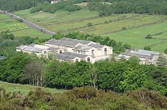 Rivelin Dams - Rivelin water treatment works from Lodge Moor.