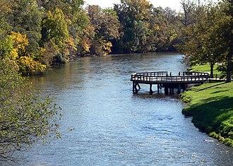 Huron River (Michigan) - Huron River in Ypsilanti