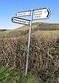 Road Sign below Moel yr Accre - geograph.org.uk - 340784.jpg