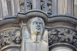 Robert Fergusson as depicted on the Scott Monument.JPG