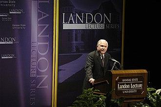 Landon Lecture Series - Defense Secretary Robert Gates delivering a Landon Lecture in November 2007