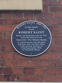 Photo of Robert Saint blue plaque