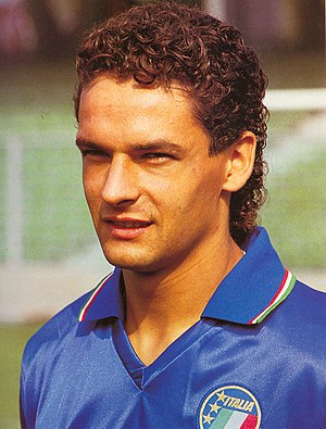 Roberto Baggio - Baggio with Italy in 1990
