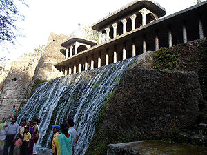 Nek Chand - A waterfall in Nek Chand's Rock Garden