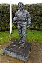 Statue Roger Williamsons in Donington Park
