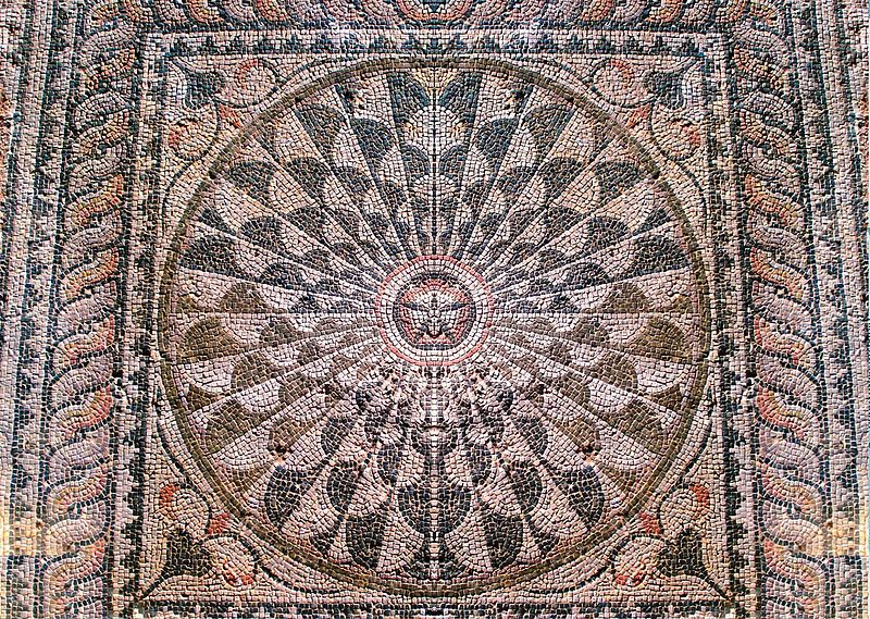 Roman Villa of Manius Antoninus, Mosaic.JPG