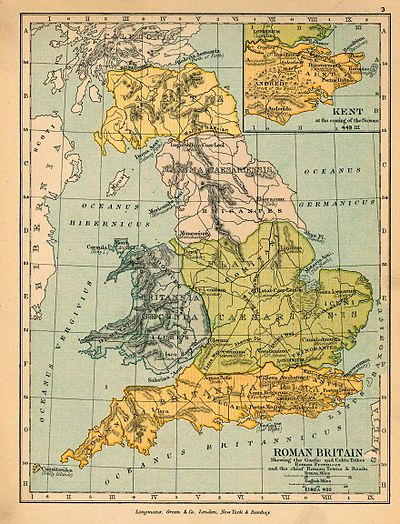 Map Of England 400 Ad.List Of Latin Place Names In Britain Wikipedia