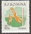 Romania stamp 1959-10-05 - Football.jpg