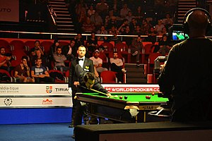 2016 European Masters - Image: Ronnie O'Sullivan in action