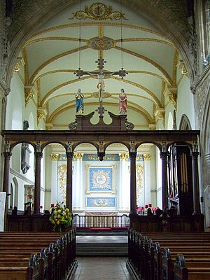 Church of St Mary, Bruton - Image: Rood Screen, St Mary's Church, Bruton geograph.org.uk 666098
