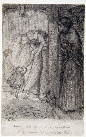 Found (Rossetti) - The Gate of Memory, c. 1854