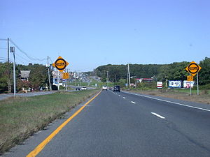New Jersey Route 34 - Route 34 northbound at the Allenwood Circle.