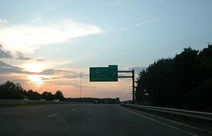 Massachusetts Route 3 - A portion of the Pilgrims Highway in Plymouth