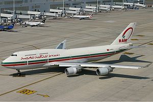 Royal Air Maroc - A Royal Air Maroc Boeing 747-400.