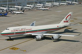 Royal Air Maroc - A former Royal Air Maroc Boeing 747-400.