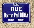 Rue Paul Diday (Lyon) - plaque de rue (Docteur).JPG