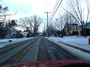 Beebe Plain, Vermont - Heading west on Canusa St., the border is determined by the yellow road line, making houses on the left fall under American jurisdiction, while the right side is governed by Canada. Both sides are part of Beebe Plain, however.