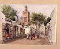 Rue des Orfévres. Tlemcen mars 86. Gata i Algeriet. Fritz von Dardel, 1886 - Nordiska Museet - NMA.0037310.jpg