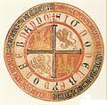 Rueda de un privilegio rodado de Fernando IV de Castilla (Monasterio de San Clemente de Sevilla).jpg