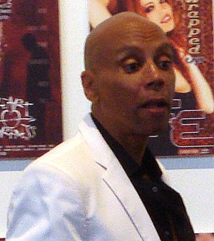 RuPaul - RuPaul (left) seen out of drag in March 2009.