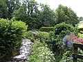 Rushing stream and cottage garden - geograph.org.uk - 507010.jpg