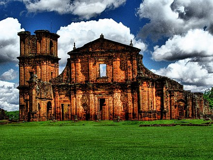 Ruins of the Jesuit Reduction at Sao Miguel das Missoes in Brazil Sao Miguel das Missoes (Brazil).jpg