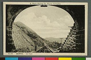 S. Paulo Railway Co. Planos Inclinados. - Nº114. Serra. um Tunel