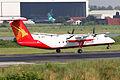 S2-AHA Bombardier Dash 8-Q314 Regent Airways Landing (8306313354).jpg