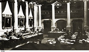 South Australian House of Assembly - House of Assembly chamber circa 1928.