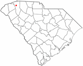 Travelers Rest, South Carolina - Image: SC Map doton Travelers Rest