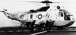 SH-3G Sea King of HS-75 aboard USS Kalamazoo (AOR-6) in the Atlantic Ocean, on 14 September 1976.jpg