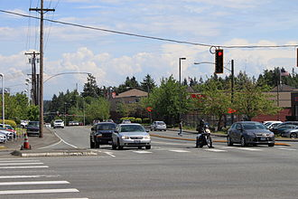 Washington State Route 104 - Image: SR 104 Spur eastbound from SR 99