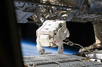 Michael E. Fossum - Fossum during a spacewalk